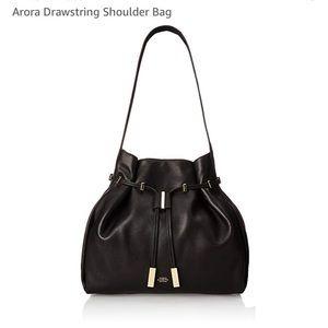 Vince Camuto Black Leather Arora Handbag Purse